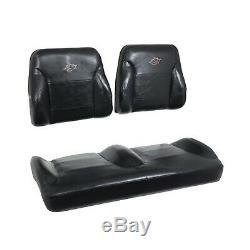 Club Car Precedent Golf Cart 2004-11 Suite Seats Bucket Style Solid Black