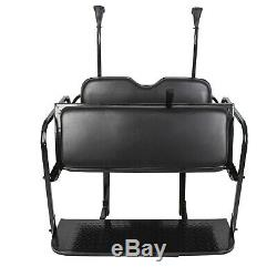 Club Car Precedent Golf Cart Flip Folding Rear Back Seat Kit Black Seats