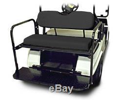 Club Car Precedent Golf Cart Rear Flip Seat Kit (2004-UP) BLACK SEAT CUSHIONS
