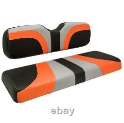 Club Car Precedent Golf Cart Seat Cover (orange/ Black Carbon Fiber/ Gray)