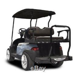 Club Car Precedent Rear Flip Seat MadJax Genesis250 withStandard Black Cushions