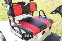 Custom Red/Black Two-Tone Seat Covers Front/Rear(4pc) For CLUB CAR DS 2000.5 +UP