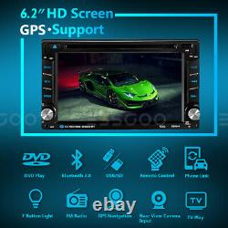 Double 2 DIN 6.2 Car CD DVD Player Stereo GPS Navigation Touch Screen Radio USB