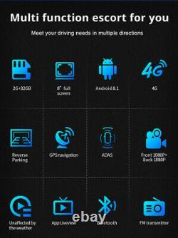 Dual Lens Dash Cam 1080P Car DVR Video Recorder Camera GPS Navi WIFI BT G-Sensor
