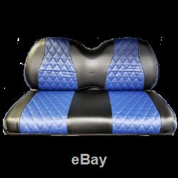 EZGO TXT/RXV & Club Car DS Golf Cart Seat Covers Navy & Black