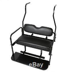 Folding Rear Flip Back Seat Kit For 2000-2013 Club Car Golf Cart DS Black