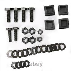 Folding Rear Flip Back Seat Kit For Club Car Golf Cart DS Black 2000-2013