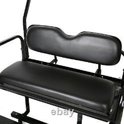 For 2000-2013 Club Car DS Golf Cart Flip Folding Rear Back Seat Kit Black