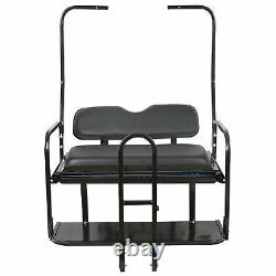 For 82-00 Club Car DS Golf Cart Flip Folding Rear Back Seat Kit with Diamond Plate