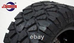 GOLF CART 10 BLACK STEEL WHEELS/RIMS and 18x9-10 DOT STINGER A/T TIRES