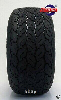 GOLF CART 10 MACHINED BULLDOG WHEELS and GECKO 18(205/50-10) LOW PROFILE TIRES