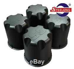 GOLF CART 10 MATT BLACK VAMPIRE WHEELS and 18x9-10 DOT STINGER A/T TIRES(4)