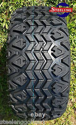 GOLF CART 10x7'' SPIDER WHEELS and 20 ALL TERRAIN TIRES (SET OF 4)