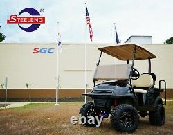 GOLF CART 12 BLACK PIONEER WHEELS and 22x11-12 AT/MT TIRES (4) EXCLUSIVE