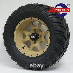 GOLF CART 12 DESERT STALKER WHEELS and 22x11-12 AT/MT TIRES (4) EXCLUSIVE
