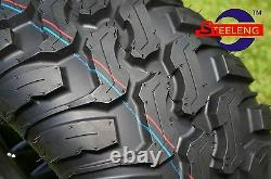 GOLF CART 12 FANG WHEELS and 22x11-12 AT/MT TIRES (SET OF 4) EXCLUSIVE