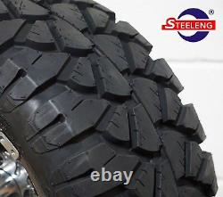 GOLF CART 12 RALLY WHEELS/RIMS and 20 STINGER ALL TERRAIN TIRES (DOT RATED)