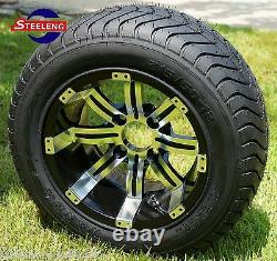 GOLF CART 12 TEMPEST WHEELS and 215/50-12 COMFORT RIDE DOT TIRES(4)