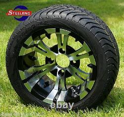 GOLF CART 12 VAMPIRE WHEELS and 215/40-12 DOT LOW PROFILE TIRES (SET OF 4)