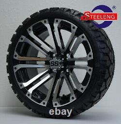 GOLF CART 14 LANCER WHEELS/RIMS and 20 STINGER ALL TERRAIN TIRES DOT RATED