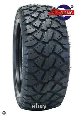 GOLF CART 14'RALLY' WHEELS/RIMS and 20 STINGER ALL TERRAIN TIRES DOT RATED