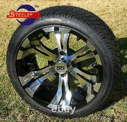 GOLF CART 14 VAMPIRE WHEELS and 205/30-14 DOT LOW PROFILE TIRES (4)