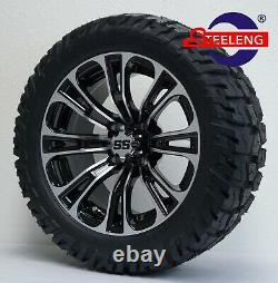 GOLF CART 14 VECTOR WHEELS/RIMS and 22'GATOR' ALL TERRAIN TIRES DOT RATED