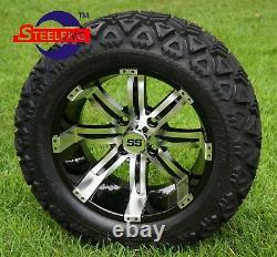 GOLF CART 14x7 TEMPEST WHEELS and 23x10-14 ALL TERRAIN TIRES (SET OF 4)