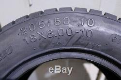 Golf Cart 10 Sti Hd3 Machined Wheels & 205/50-10 Dot Street Legal Tires Set 4