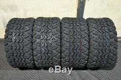 Golf Cart 10 Sti Hd6 Machined Wheels & 20x10-10 Dot Street Legal Tires Set 4