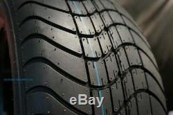 Golf Cart 12 Black Steel Wheels & 215/35-12 Dot Low Profile Tires (set Of 4)