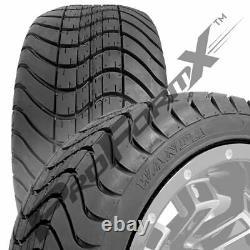 Golf Cart 12 Recluse Machined/Black Wheels on 215/35-12 Venom Streets Set