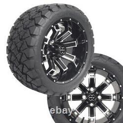 Golf Cart 14 Recluse FX Mach/Black Wheels 22 Timber Wolf Tires ProFormX