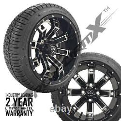 Golf Cart 14 Recluse Machine/Black Wheels on 205/30-14 Street Tires