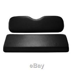 Golf Cart BLACK Cushion Set for Club Car DS Precedent Rear Flip Seat Madjax GTW