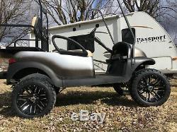Golf Cart Black Wheels 14 Inch 22x10-14 Offroad Tires DOT EZGO Club Car YAMAHA