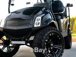 Golf Cart Club Car Black Electric Vehicle 4 Passenger Custom Lifted Build