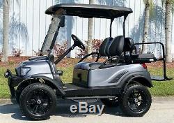Golf Cart Club Car Black / Gray Electric Vehicle 4 Passenger Custom Lifted Build