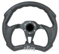 Golf Cart Club Car EZGo Yamaha Rhino Flat Bottom Racing 12 Steering Wheel Kit