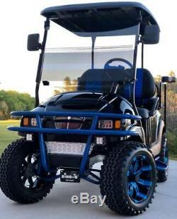 Golf Cart Club Car Electric Vehicle Custom Lifted Build Black Blue Precedent
