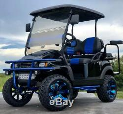 Golf Cart Club Car Electric Vehicle Lifted Black Blue Custom Build