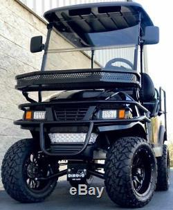 Golf Cart Club Car Lifted Custom Build Black Electric Vehicle 4 Passenger