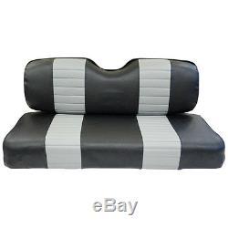 Golf Cart Custom Front Seat Covers Black Grey Vinyl Club Car Precedent 2004+