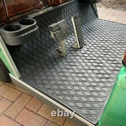 Golf Cart Floor Mat Fits Club Car DS/Villager Models (1982-2013) ALL BLACK