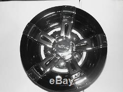 Golf Cart Hub Caps Wheel Cover 8 Vegas Black & Chrome Club Car Ez-go Yamaha