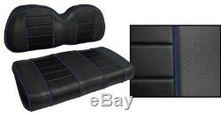 Golf Cart Seat Covers Custom BLACK & ROYAL BLUE Piping Club Car Ezgo Yamaha