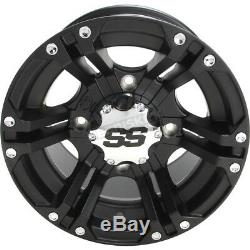 Golf Cart Set of (4) 12 Wheels/Rims ITP SS212 Black 2+5 4/4 12X7
