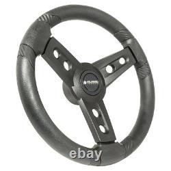 Gussi Italia Lugana Black 14 Steering Wheel Club Car DS Golf Carts