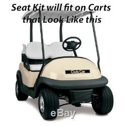 Gusto Club Car Precedent Golf Cart Flip Folding Rear Back Seat Kit Black