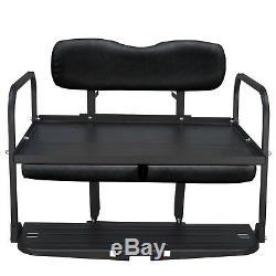 Gusto Yamaha G2 G9 Gas/Electric Golf Cart Flip Folding Rear Seat Kit Black